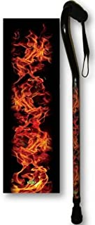 Walking Cane Aluminum Adjustable with Flames