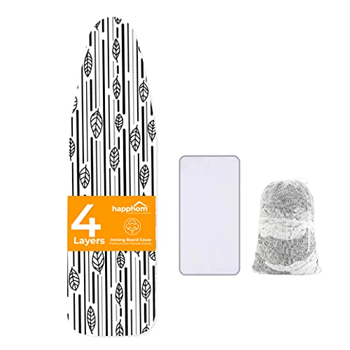 Ironing Board Cover and Pad Extra Thick Heavy Duty Padded 4 Layers Non Stick...