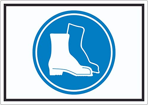 Sicherheitsschuhe tragen Symbol Aufkleber A5 (148x210mm)
