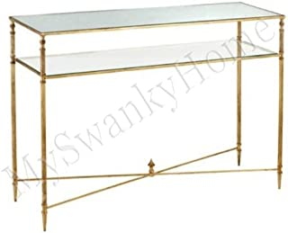 Contemporary BARSTOW Console Table Glass Iron MINIMALIST