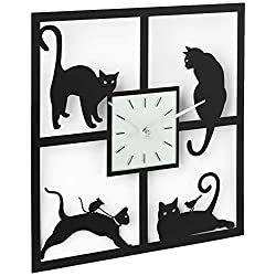Ashton Sutton Wall Clock, Four Cats