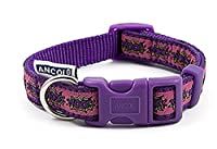 Quick-release buckle for speedy removal Made of nylon material A strong, lightweight and weather-proof Long-lasting collar that is comfortable for your dog A sturdy D-ring for easy lead attachment