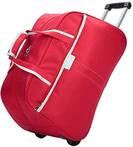 GQY Trolley - pulley suitcase trolley travel bag handbag laptop bag (Color : Red, Size : Moyen)