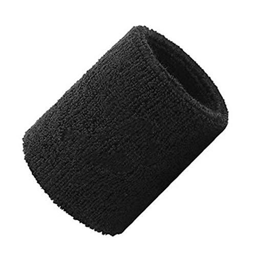 LRL Muñeca SweatBands Pulseras Deportivas - 7,5 x 8 cm Muñeca Sweat Band Sports Toalla Soporte de muñeca Transpirable Sudor Absorbente Sudor-Absorbente liviano Duradero (Color : Black)