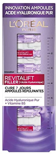 L'Oréal Paris – Ampoules repulpantes – Cure de 7 Jours – Revitalift filler – Concentré en Acide Hyaluronique Pur