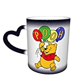 Hdadwy Magic Heat Sensitive Color Changing Mug,Winnie The Pooh Design Color Changing Mugs Tea Cup for Christmas Thanksgiving Festival Friends Gift Present,Blue