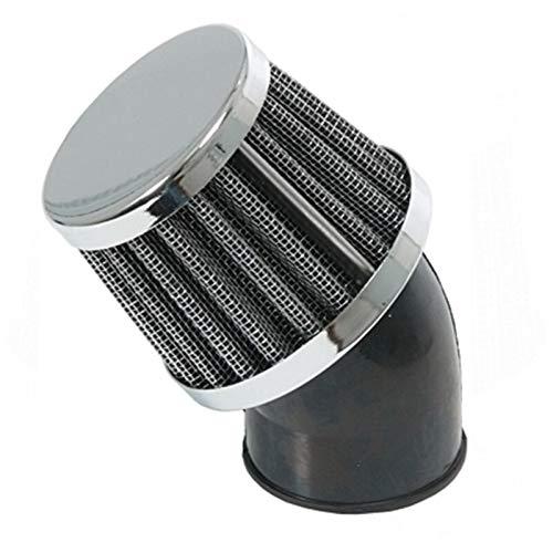 Tuning Sport Luftfilter - Ø 32mm Chrom 45° für Motorrad Roller Quad Moped Mofa