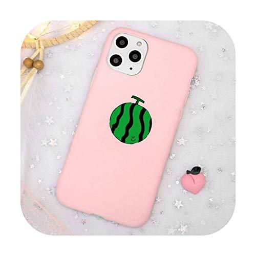 Lindo dibujos animados fruta sandía animal ballena teléfono caso caramelo color para iPhone 11 12 mini pro XS MAX 8 7 6 6S Plus X SE 2020 XR-a3-iPhoneXSMAX