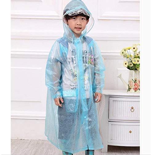 Raincoat rain poncho jacket Schoolbag Waterproof Raincoat Primary School Children Transparent Poncho Outdoor Travel Light rain poncho (Size : M)-X-Large Uptodate