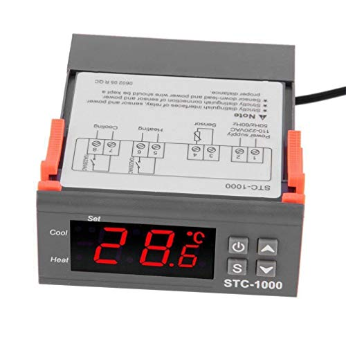 TOOGOO Digitaler Stc-1000 Multi Funktional Temperatur Regler Thermostat Mit Sensor
