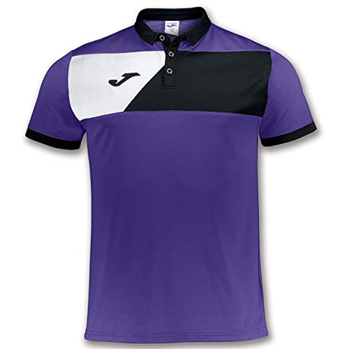 Joma Polo M/C Crew II Violet Uniforms Homme, Aubergine
