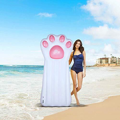 Svvsgf aufblasbare Liege, PVC aufblasbare schwimmende Reihe Wasserinsel schwimmendes Bett Erwachsenen Freizeit schwimmende Kissen Wasser Liegestuhl