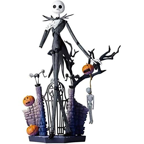 YYQIANG Pesadilla Antes de Navidad: Figura de acción Jack Skellington Rey Calabaza Figma la Ciudad de Halloween 6 Pulgadas Aficiones Infantiles (Size : M)