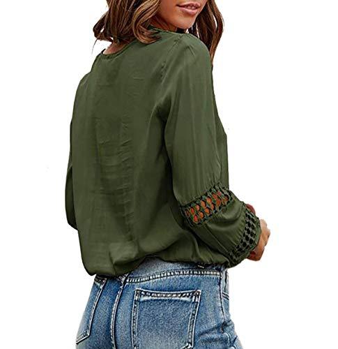 Camisas Mujer Blusas Mujer Invierno Blusa Negra Mujer Blusas Mujer Tallas Grandes Blusa Manga Larga Mujer Camisas Mujer Tallas Grandes Blusas De Vestir De Mujer Blusa De Mujer Verde L
