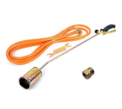Unbekannt Gasbrenner Abflammgerät Brenner Unkrautvernichter Dachbrenner 85cm mit Adapter