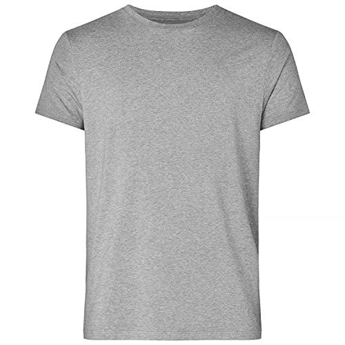 Resteröds T-Shirt aus Bambus und ökologischer Baumwolle für Herren, lang, Rundhals, halbarm Shirts für Männer, grau, M