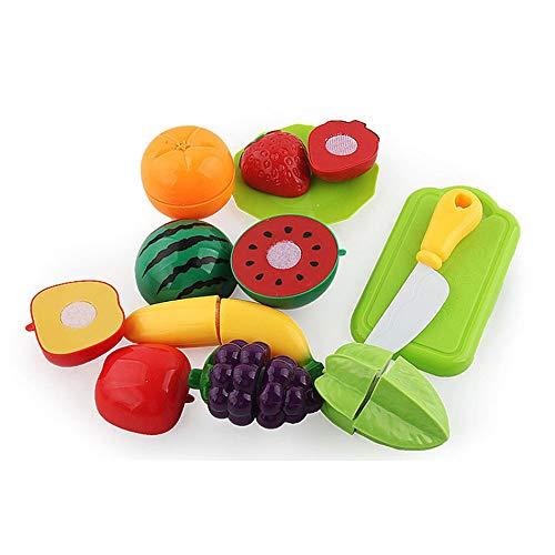 DAILYINT Juego de los niños Casa de Cocina de Juguete de la Fruta Cortada y Regalo Cocina Feliz Fruta del Corte Juguete Varias Piezas for niños y niñas 3-6 años de Edad