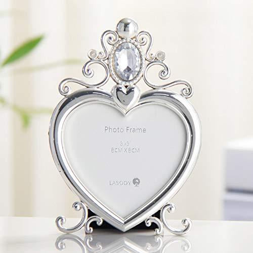 Cristal Bijoux De Mariage Mémorial Photo Cadre Diamant Anneau 3x3 Cadre Photo En Forme De Coeur Bijoux Cadeau Décoration De La Maison 3 pouces Y