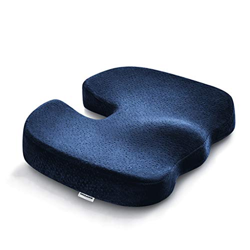 QVIVI Office Chair Seat Cushion, Memory Foam Seat Pads for Home Travel Flight, Breathable Washable for Dining Chair Car Seat Recliner Wheelchair