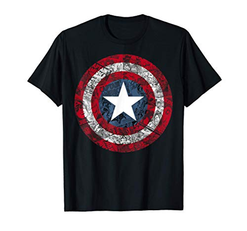 Marvel Captain America Avengers Shield Comic Maglietta