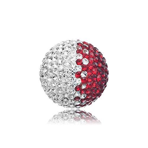Engelsrufer Klangkugel Crystal rot / weiß L 20mm