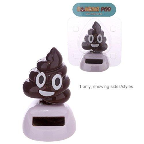 FLIP FLAP Decorazione Energia Solare Emoticon Emoji Poop Cacca