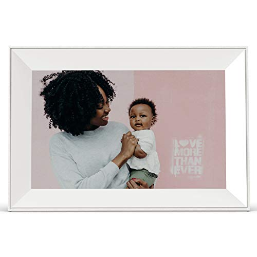 Aura Carver Smart Digital Picture Frame 10.1 Inch HD WiFi Cloud Digital Frame Free Unlimited Storage Easy Setup to Send Photos Remotely Via App More Secure Than Email