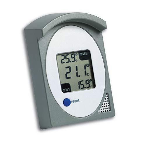 TFA Dostmann Digitales Thermometer, für innen oder außen, Höchst- und Tiefstwerte, spritzwassergeschützt