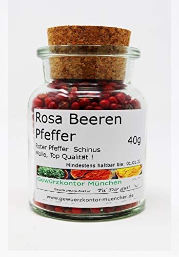 Roter Pfeffer, Rosa Beeren 40g im Glas Gewürzkontor München