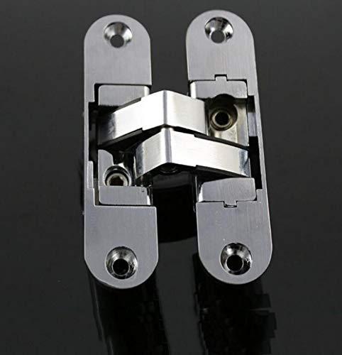 YAOJII Bisagras Ocultas Ajustables Plegables tridimensionales/bisagras Ocultas para Puertas y Ventanas, 2 Piezas, Izquierda