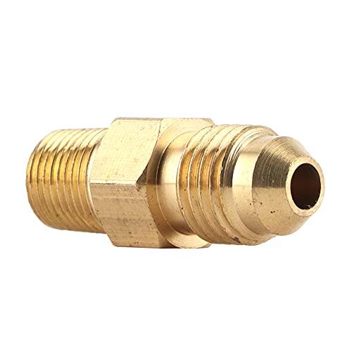 aqxreight - Conector adaptador NPT, acoplador de conexión de gas de aceite de latón recto AN4 macho a macho de 1/8 pulg.