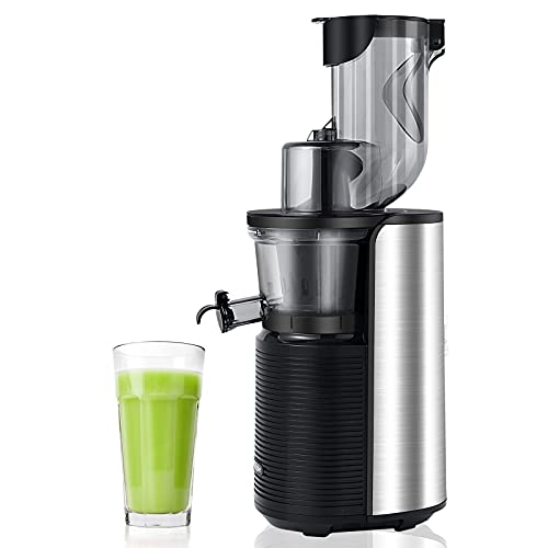 """Viesimple Masticating Juicer Cold Press Juicers Machine Easy to Clean Slow Juicer Extractor for Vegetable Fruit Juice Smoothies, Large WIDE 3.15"""" Turn Over Wide Chute, Quite Low db Juicer Machine"""