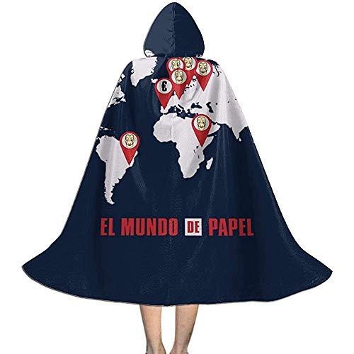 Niet van toepassing volwassen mantel mantel, Unisex Cosplay rol kostuums, capuchon mantel, Le Casa De Papel El Mundo heks tovenaar mantel, Halloween partij decoratie bovenkleding, Vampire mantel