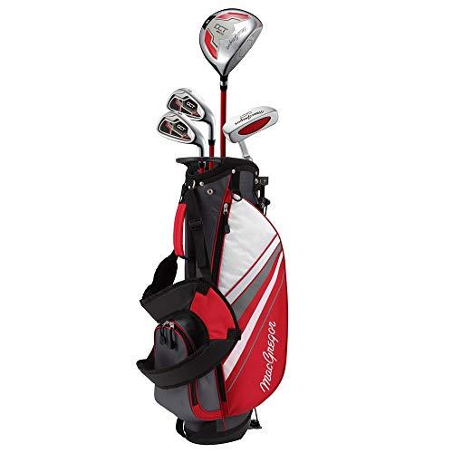 MACGREGOR Jungen DCT3000 Junior Kids Childrens Package Set with Golf Club Carry Bag Golfschläger, rot/weiß, Boys Right Hand 6-8 Years