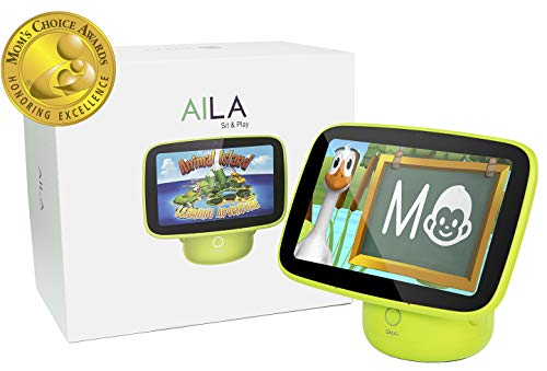 ANIMAL ISLAND Aila Sit & Play Intelligent Monitor & Edutainment System Mom's Choice Gold Award -Virtual Preschool Program Essential for Toddlers (12+ Months) Best Gift for Early Childhood Education