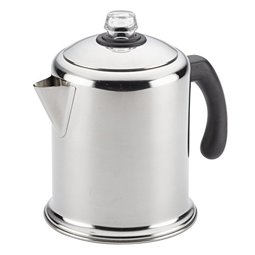 Farberware Classic Stainless Steel Yosemite 12-Cup Moka Pot Brewer