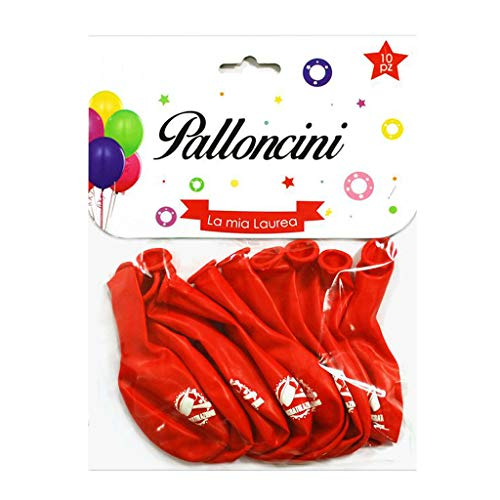 Palloncini Laurea Rossi con Scritta Congratulazioni 10 Pezzi Addobbi Decorazioni Gadget Accessori per Festa di Laurea Dottore Dottoressa