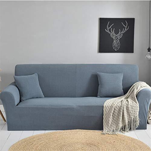 Wjwzl Sofa-set, creatief, Europese, pure kleur, antislip, elastisch, robuust, machinewasbaar, geschikt voor huisdieren, mof, grijs