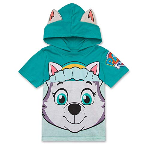 Nickelodeon PAW Patrol Hooded Shirt: Skye, Everest - Girls (Turquoise Everest, 5T)