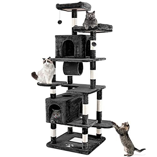 Pirecart Large Cat Tree Tower, 75' Multi-Level Cat Condo...