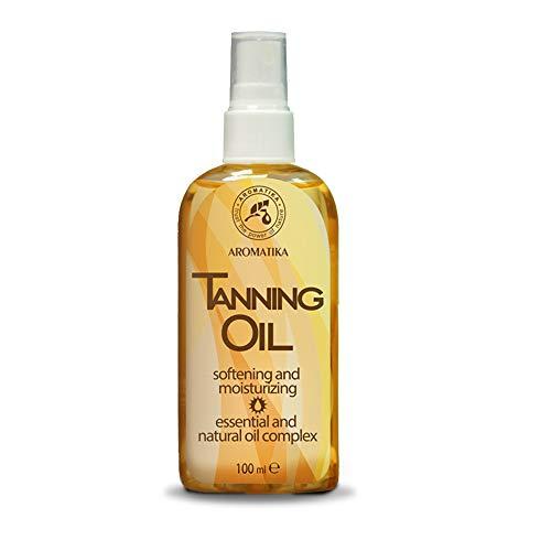 Bräunungsöl 100ml mit Natürlich Karottenöl & Jojobaöl - Feuchtigkeitsspendend nach Sonne - Intensive Gesichtspflege - Körperpflege - Accelerate Sun Tan - Sonnenschutzmittel mit Lichtschutzfaktor