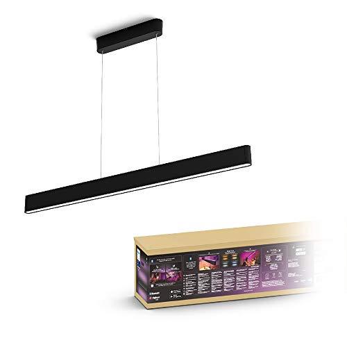 Philips Hue White and Color Ambiance Ensis Lampada a Sospensione Smart, con Bluetooth, LED Integrato, 79W, Nero