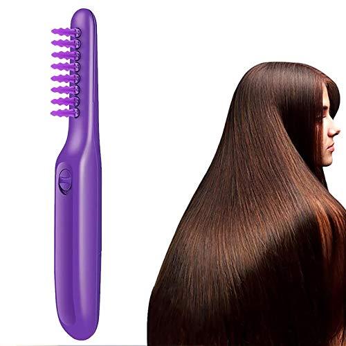 WEON Elektrischer Entwirrungskamm-FüR NatüRliches Haar,Lockige HaarbüRste Entwirren HaarbüRste Frauen Haar Kopfhaut Massage KammbüRste
