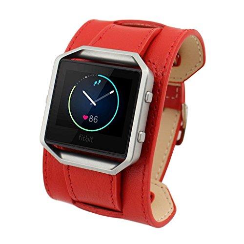 Correa de repuesto para Fitbit Blaze, correa de repuesto de piel ajustable, para reloj inteligente Fitbit Blaze