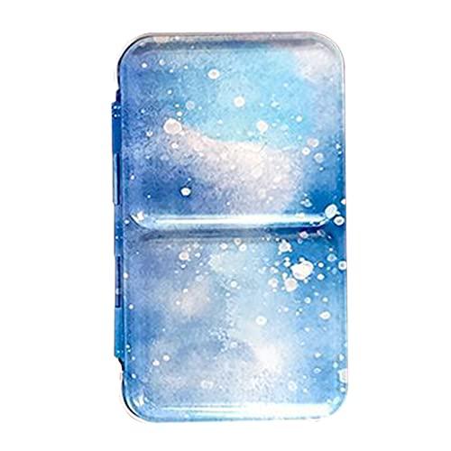 VEILTRON Caja de Paleta vacía de Color Caja de latas de Limpieza fácil Caja de Hierro de Almacenamiento de Pintura Caja de Regalo para Amantes de la Pintura Caja de Hierro Almacenamiento de Pintura