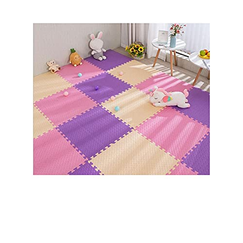 30 * 30 * 1 cm Puzzle de espuma MAT para niños niños entrelazados deportes azulejo alfombra alfombra alfombra alfombra de rastreo estera rompecabezas mate cómodo amortiguación espuma suelo de espuma M