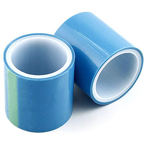 Wenxiaw Epoxidharz Handwerk Klebeband Anti-Leck-Klebeband UV Resin Papierband Ohne Spuren für Bastelprojekte, Metallrahmen, Unterseiten, Schmuckherstellung, DIY Anhänger, 2 Rollen, 5 Meter