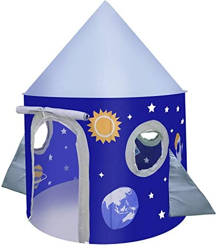 Large Play Tent for Kids Toddlers Indoor Outdoor Rocket Ship Tent Playhouse Foldable A Carry product image