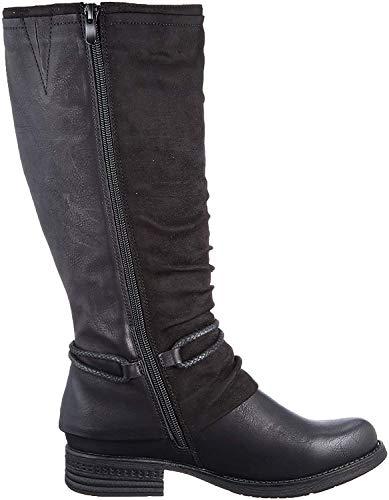 Rieker Damen 93273 Hohe Stiefel, Schwarz (schwarz/Black 00), 40 EU