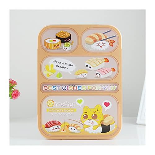 Lunch Box Caja de almuerzo infantil Vajilla de alta capacidad Comida Contenedor de comida viaje Senderismo Camping Oficina Escuela Fugas a prueba de fugas Bento Bento 1000ml (Color : Yellow 5)